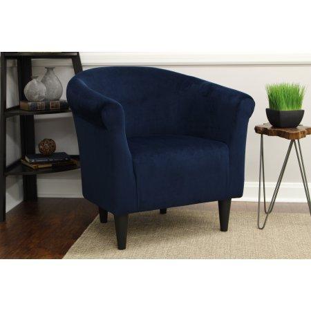 Mainstays Microfiber Bucket Accent Padded Chair (Microfiber, 18' Navy Blue)
