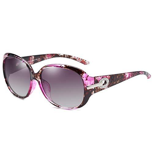 DUCO Klassische Damen Sonnenbrille Polarisiert Modische 100% UV-Schutz 6214 (Lila Tortoise)