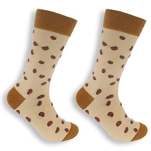 BambooMN Damen-Socken aus Baumwolle, lustig und farbenfroh, Druckgrafik und Designs - Braun - Small-Medium