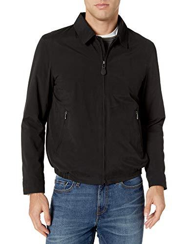Amazon Essentials Men's Water-Resistant Zip-Front Golf Jacket, Black, Large