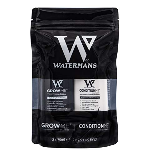 Watermans minis Travel shampoo and conditioner set - 75ml Travel Kit - Hair Gym Kit - Hair Growth Products
