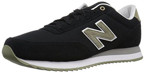 New Balance Men's 501v1 Ripple Sneaker, Black/Covert Green, 7 2E US