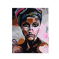 抽象的なセクシーなアフリカの女性のキャンバスアートのポスターとプリント壁に黒人の女の子のキャンバスの絵画アート写真家の壁の装飾50x70cmフレームレス