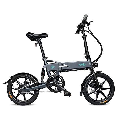 FIIDO D2 Folding Electric Bike Ebike with 250W Hub Motor, LED Headlight, 16...