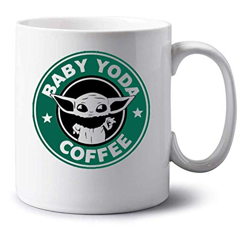 Sartamke Baby Yoda Coffee Amazing Taza Blanca
