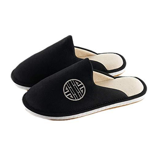 WXDP Pantuflas Calientes,Mujer Hombre Zapatillas, Old Beijing Zapatilla para Mujer Hombre Memory Foam Zapatillas De Algodón Transpirable, Zapatillas De Casa Interior Exterior Invierno Pareja ZAPA