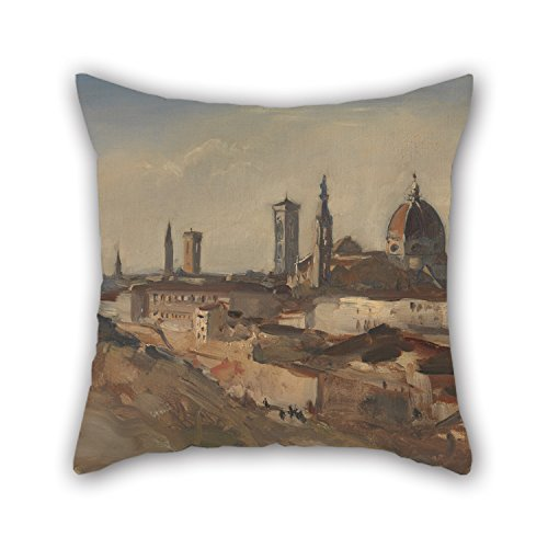 Slimmingpiggy Pillow Covers Of Oil Painting Hercules Brabazon Brabazon - Florence 18 X 18 Inches / 45 By 45 Cm,best Fit For Bf,home Theater,outdoor,saloon,floor,festival Twice Sides