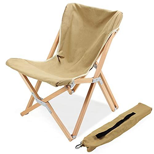 Camping expert 木製 折りたたみ チェア 耐荷重120kg お釣り 登山 コンパク キャンプチェア 携帯便利 アウトドア 椅子 天然木 コンパク キャンプチェア (バタフライチェア)