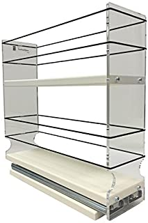 Vertical Spice - 3x2x11 DC - Spice Rack - Large Container Drawer - Two Tiers Tall