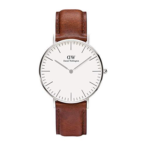 Daniel Wellington Classic St Mawes, Braun/Silber Uhr, 36mm, Leder, für Damen und Herren