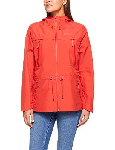 Jack Wolfskin W Fairview Jacket Rot, Damen Regenjacke, Größe XL - Farbe Volcano Red