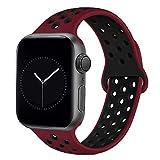 DCMEKA para Apple Watch Strap 38 mm 42 mm 40 mm 44 mm, Correas Deportivas de Repuesto de Silicona Suave para iWatch Series 5 4 3 2 1 para Hombres y Mujeres S/M M/L