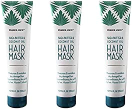 3 Pack Bundle Shea Butter and Coconut Oil Hair Mask 5.1 FL OZ (150ml) Per Bottle