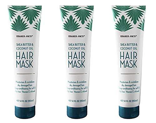 3 Pack Bundle Shea Butter and Coconut Oil Hair Mask 5.1 FL OZ (150ml) Per Bottle