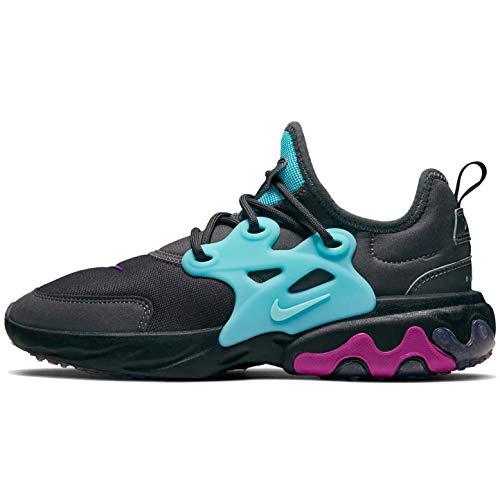 Nike React Presto (gs) Big Kids Bq4002-011 Size 6.5, Thunder Grey/Aurora Green-hyper Violet