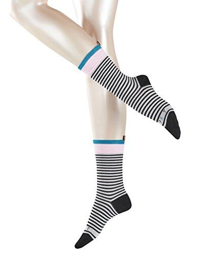 ESPRIT Damen Socken Heritage Stripe - Baumwollmischung, 1 Paar, Schwarz (Black 3000), Größe: 39-42
