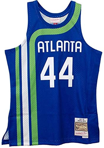 Pistol Pete Maravich Atlanta Hawks Men's Blue HWC Swingman Jersey (2X-Large)