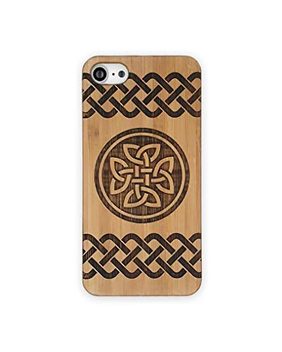 Bamboo Case for iPhone 6 Plus or 6S Plus | Natural Wood Protective Cover with Celtic Knot Design