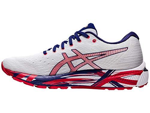 ASICS - Zapatillas de running GEL-CUMULUS 22 para hombre, blanco (blanco, rojo (White/Classic Red)), 50 EU