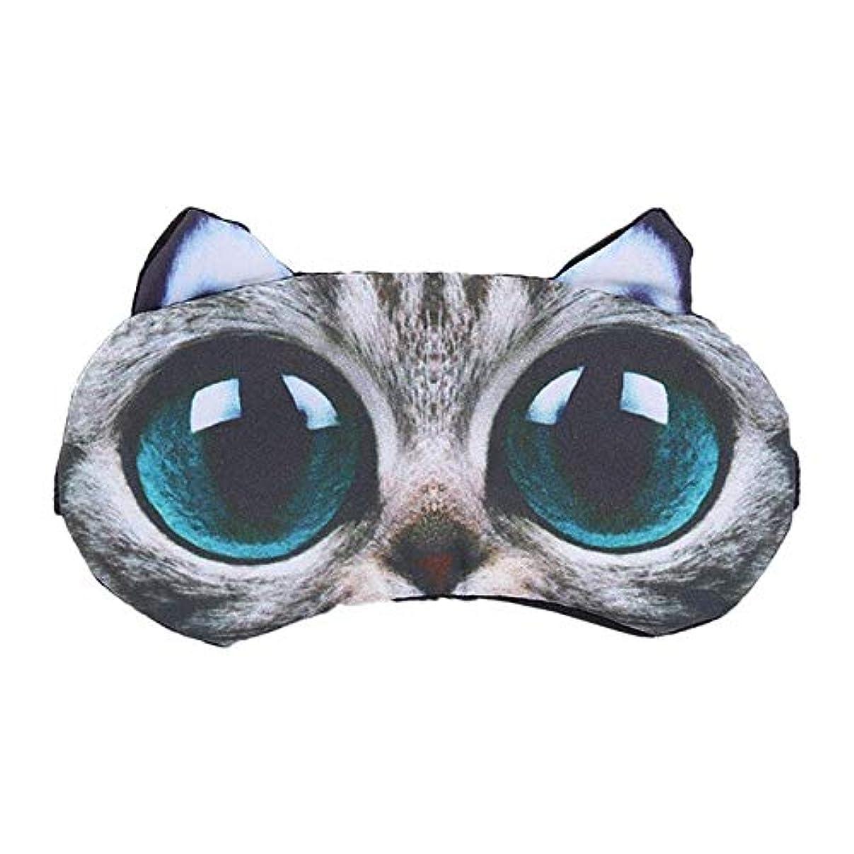 不倫オーディションの配列NOTE 3dビッグアイズ猫マスク漫画動物睡眠目隠し綿冷却アイシェード用旅行ホームオフィス残り