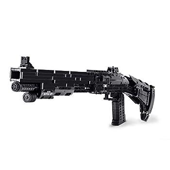 Lingxuinfo Gun Model Kits for Adults 1061+Pcs Large Scale Double Shot M4 Blaster Model Kit Simulation Mechanical Weapon Building Block Toy
