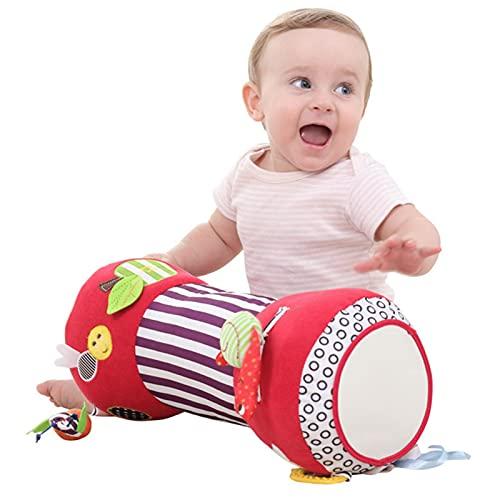 Bauchzeitkissen, Baby-Übungsroller-Spielzeug, Baby-Krabbelkissen Für Neugeborene, Mit Spieluhr Und Beißring, Babykissen, Rolle, Weich