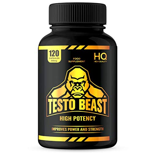 Test Booster for Men | 120 Capsules | Magnesium, Zinc and Vitamin D | Vegan | Made in The UK | GMP Approved | New Formula | Beast and Bulk Nutrition