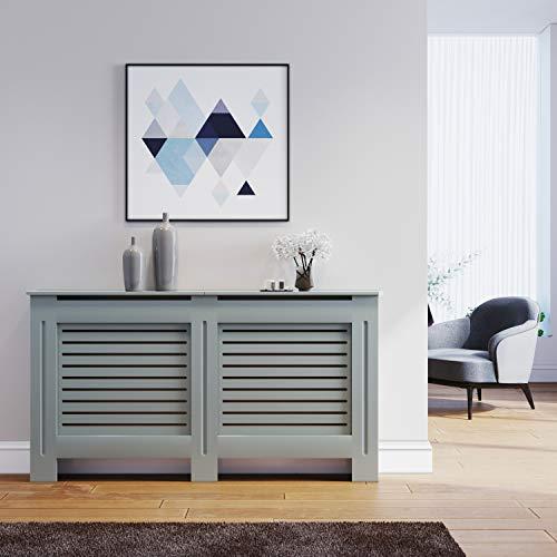 ELEGANT Radiator Cover Medium Modern Grey Painted Cabinet Radiator Shelve for Living Room/Bedroom/Kitchen,LARGE