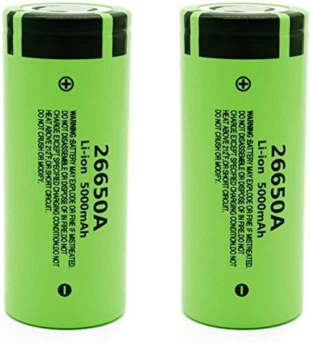 2 Uds 3,7 V 5000 Mah 26650A Batería Recargable De Iones De Litio para Linterna Led Control Remoto Banco De Energía Micrófono Radio Faro