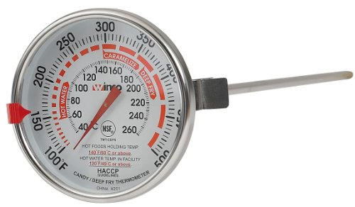Winco 3-Inch Dial Deep Fry/Candy Thermometer with 12-Inch Probe