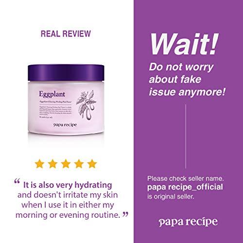 Papa Recipe Eggplant Clearing Peeling Pad Toner '5-IN-1' Effect   Exfoliates, Brightens, Moisturizes, Tones, Sensitive…