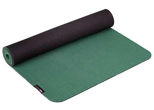 Yogistar Yogamatte eco deluxe, petrol-Black, 183 x 61 x 0.4 cm