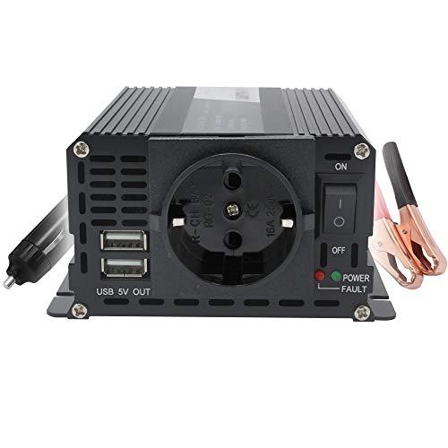 Convertisseur 400W 12V 220V Convertisseur de Tension Double USB Power Inverter DC 12V AC 230V, Onduleur Transformateur avec Allume Cigare Prise Electrique