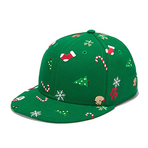 RIOREX Baseball Cap Black and Gold Optional snapeback Adjustable (XS(6-12y), Green-Christmas)