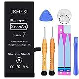 JEMESI Batterie pour iPhone 7 2300mAh, Haute Capacité Batterie Interne de Replacement avec Kit D'outils de Réparation Professionnel, Garantie 2 an