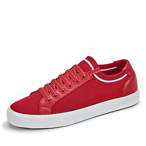 Romika 20014 Swan Damen Sneaker aus Textil - Innenfutter und -sohle aus Textil, Groesse 38, rot