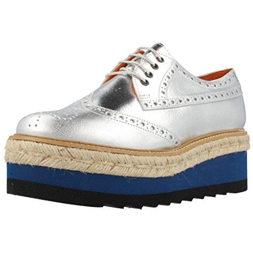Jeffrey Campbell Damen Halbschuhe Derby Schuhe Eternal Silber 39 EU