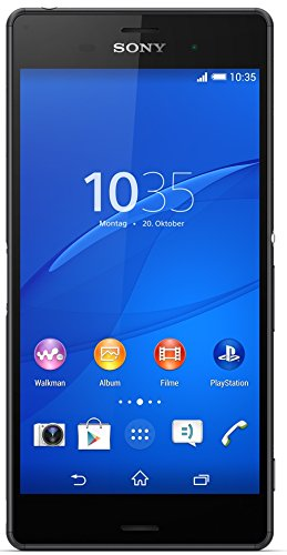 Sony Xperia Z3 - Smartphone Android de 5.2' (Full HD 1920 x 1080 p, Qualcomm Snapdragon 2.5 GHz, cámara 20.7 MP), Negro