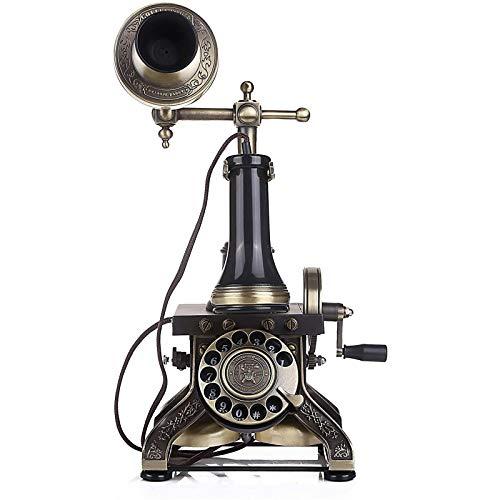 ZARTPMO Teléfono Fijo Fijo Teléfono De Estilo Antiguo Giratorio/Dial De Botón, Ha1884tn Mesa Vintage Teléfono Decorativo Teléfono Retro con Cable para El Hogar