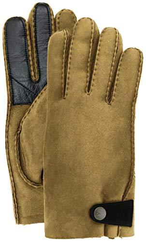 UGG Mens Sheepskin Glove With Leather Trim, Chestnut, Size Large