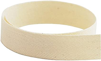 720 Yards Multiple Widths Available USA Made 1//2 Natural Cotton Twill Tape Medium Weight -