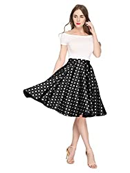 top rated Rockabilly Vintage Casual Skirt Retro Vintage 1950s Black  White XL 2021