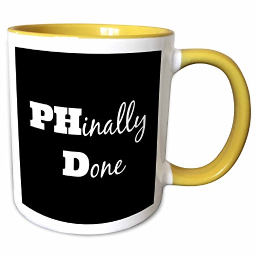 3dRose mug_216379_8 Phd, Phinally Done Mug, 11 oz