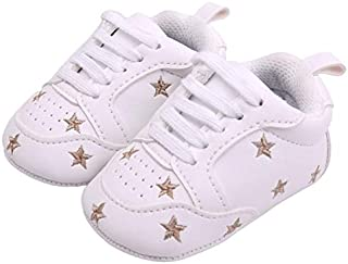 Baby Products Newborn Baby Shoes Heart Star Pattern First Walkers Kids Toddlers Shoes, Size:13cm(Colorful White) Baby Prod...
