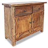 vidaXL Sideboard aus Massivholz mit 2 Türen und 2 Schubladen