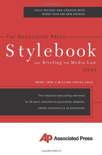 The Associated Press Stylebook 2009 (Associated Press...