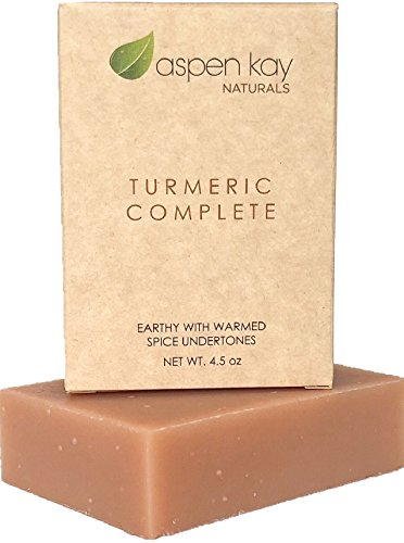 Organic Turmeric Soap - 100% Natural and Organic - Loaded with Organic Turmeric. Gentle Soap. 4.5oz Bar. (Turmeric Complete 1 Pack)