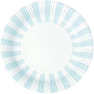 Paper Eskimo 12-Pack Party Plates, Powder Blue