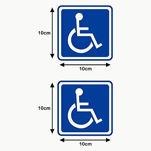 Autodomy Pegatinas Discapacitado Minusválido Pack 2 Unidades para Uso Externo Coche Furgoneta Camión