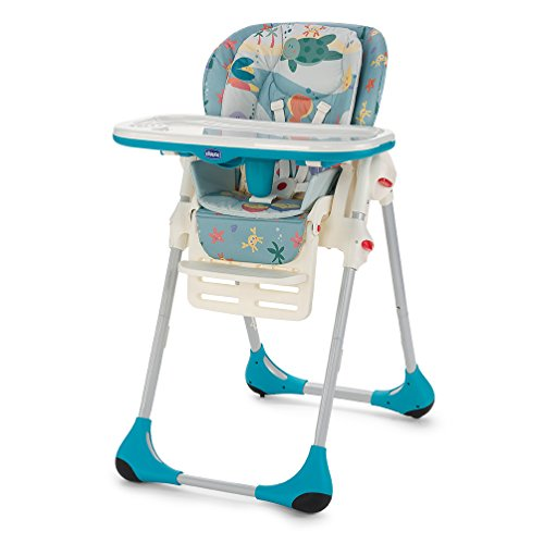 Chicco Polly Seggiolone 2 in 1, Blu, Sea Dreams